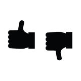 Thumbs up and thumbs down icon vector Stock Images