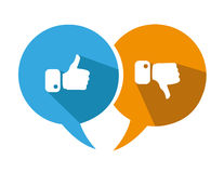 Thumbs Up and Thumbs Down Icons Royalty Free Stock Image