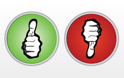 Thumbs Up and Thumbs Down Icons Royalty Free Stock Photo