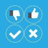 Thumbs Up. Vector illustration ok Royalty Free Stock Image