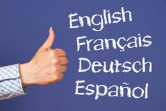 Thumbs Up to Languages Royalty Free Stock Images