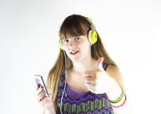 Thumbs up to music royalty free stock photography