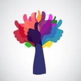 Thumbs up tree Stock Image