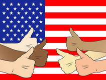 Thumbs up united states Stock Photo