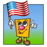 Thumbs up for USA Royalty Free Stock Photo
