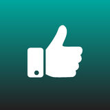 Thumbs up vector icon illustration graphic design. Thumbs up vector icon illustration graphic design Stock Photos