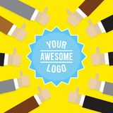 Thumbs up vector illustration Stock Photo