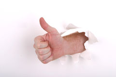 Thumbs up White. Thumb Up on White royalty free stock images