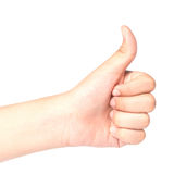Thumbs up on white background. Thumbs up on a white background Royalty Free Stock Images