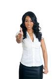 Thumbs up woman Stock Images
