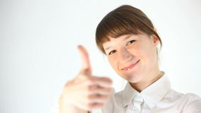 Thumbs up stock footage