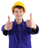 Thumbs up worker Stock Image