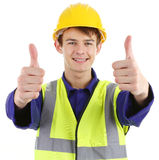 Thumbs up worker Royalty Free Stock Images