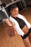 Thumbs up after workout Stock Photos