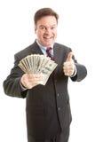 thumbsup богачей бизнесмена Стоковые Фотографии RF