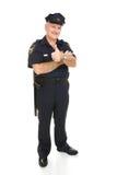 thumbsup полицейския тела полное Стоковые Изображения RF