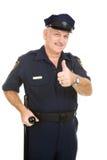 thumbsup полиций офицера Стоковая Фотография