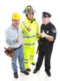 работники thumbsup группы Стоковая Фотография
