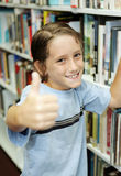 Thumbsup For Reading Royalty Free Stock Photo