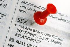 thumbtack секса стоковая фотография