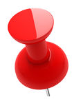 thumbtack 3D lustroso vermelho Imagens de Stock Royalty Free