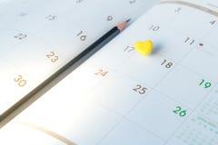 Thumbtack in calendar concept Royalty Free Stock Photos