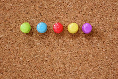 Thumbtack and corkboard Stock Image
