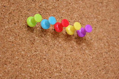 Thumbtack and corkboard Royalty Free Stock Photos