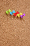Thumbtack and corkboard Royalty Free Stock Image