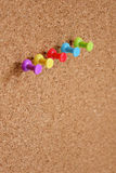 Thumbtack and corkboard Royalty Free Stock Photography