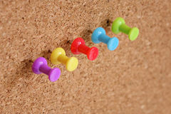 Thumbtack and corkboard Royalty Free Stock Images