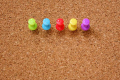 Thumbtack and corkboard Royalty Free Stock Photo