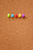 Thumbtack and corkboard Stock Images