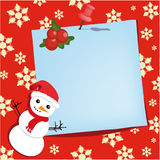 Thumbtack do ano novo feliz com folha de papel Ilustração do Vetor