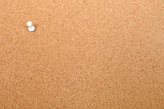 Thumbtack and empty bulletin board. Royalty Free Stock Photography