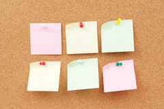 Thumbtack and note paper group Royalty Free Stock Photos