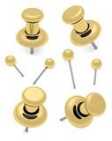 Thumbtack and pins Stock Photos