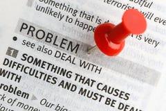 Thumbtack and problem Stock Photos