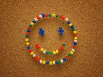 Thumbtack smiley face Royalty Free Stock Images