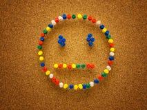 Thumbtack smiley twarz Obraz Royalty Free