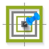 Thumbtack target Stock Image