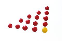 thumbtacks цвета Стоковые Фотографии RF
