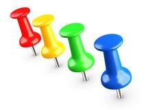 Thumbtacks colorés, broche Image libre de droits