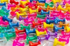 Thumbtacks de couleur Photographie stock