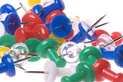 Thumbtacks Macro Isolated Royalty Free Stock Photos