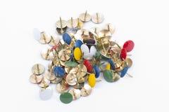 Thumbtacks. A pile of thumbtacks Stock Image