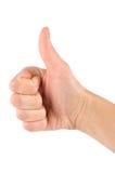 Thump up hand sign Stock Photos