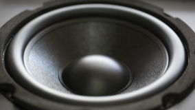 Thumping Bass Audio Speaker Stock Images