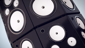 Thumping Bass Speakers Royalty Free Stock Images