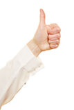 Thumps up gesture in profile Stock Photos